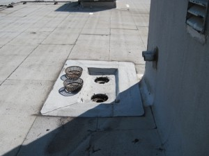 modified membrane drain flashing