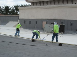 fluid applied roof installation