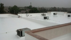 fluid applied reinforced roof system