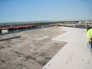 roof underlayment installed