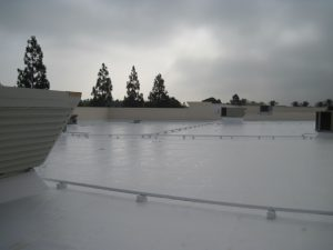 completed flat roof