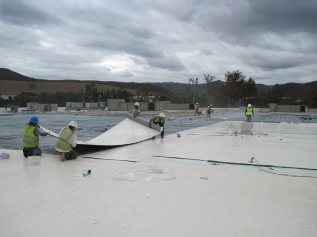 Pvc Kee Roofing Membrane Installed 217 000 Square Feet